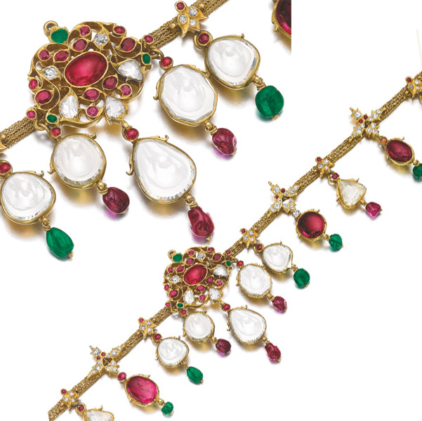 Encheres bijoux Sotheby's et Christie's Geneve mai 2014 collier type indien BusBy Jewelry