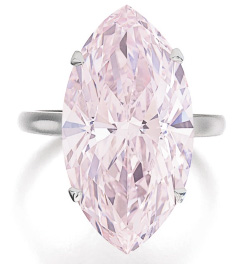 Encheres bijoux Sotheby's et Christie's Geneve mai 2014 diamant rose 12.07 cts BusBy Jewelry