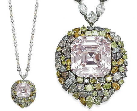 Encheres bijoux Sotheby's et Christie's Geneve mai 2014 diamant rose 76.51 cts BusBy Jewelry