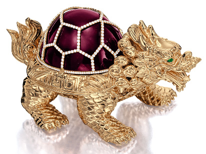 Auction Sotheby's Hong Kong octobre 2014 presse papier rubellite dragon tortue BusBy Jewelry