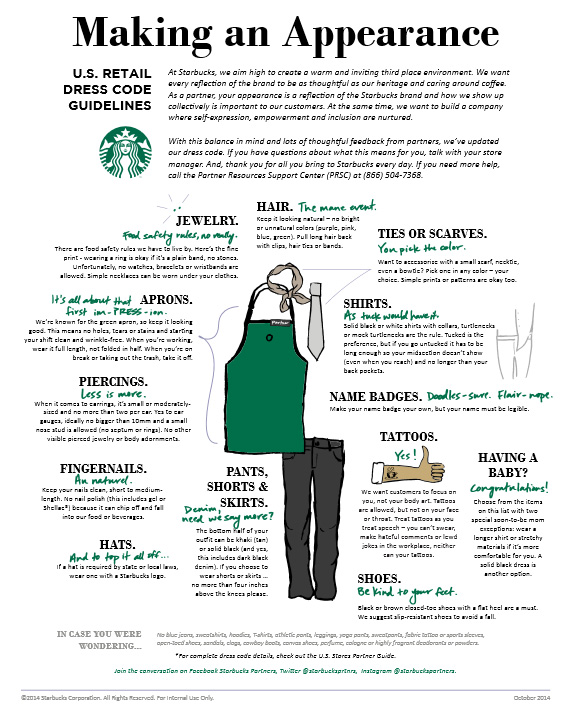 Starbucks dress code 2014 busby jewelry