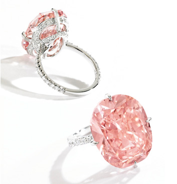 Enchères Sotheby's NY avril 2014 diamant rose orangé 15.23 cts BusBy Jewelry