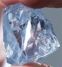 Blue diamond 122.52 cts Petra Diamonds BusBy Jewelry