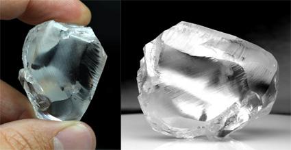 diamant brut 198 cts Letseng mine Gem Diamonds BusBy Jewelry