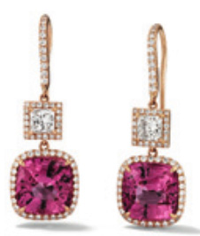 Boucles d'oreilles entourage diamants