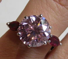 fancy purple pink diamant
