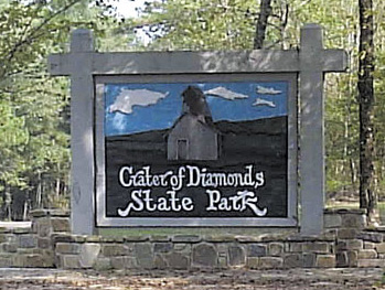 le Crater of Diamonds State Park busby
