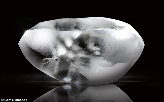 Diamant brut de Gemdiamonds de 164 cts couleur D