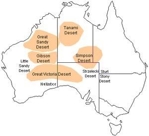 Carte des deserts australiens - le mystère du diamant de Stansmore BusBy Jewelry