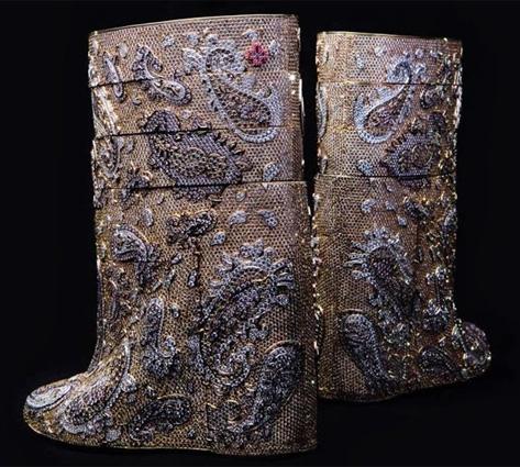La paire de bottes la plus chère du monde BusBy Jewelry