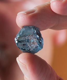 le diamant bleu de Petra de 29.6 cts BusBy