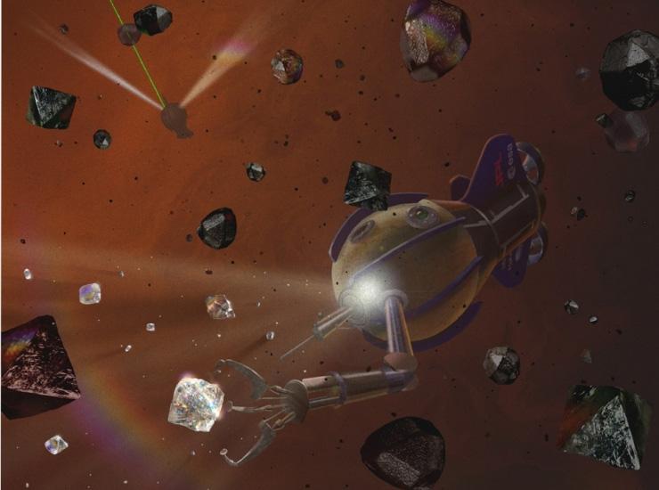 Des diamants dans l'espace par BusBy Jewelry