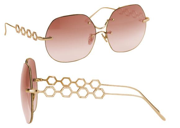 l'accessoire personnalisable, les lunettes en diamants de Linda Farrow, BusBy Jewelry