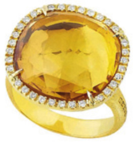 Marco Bicego citrine entourage diamants