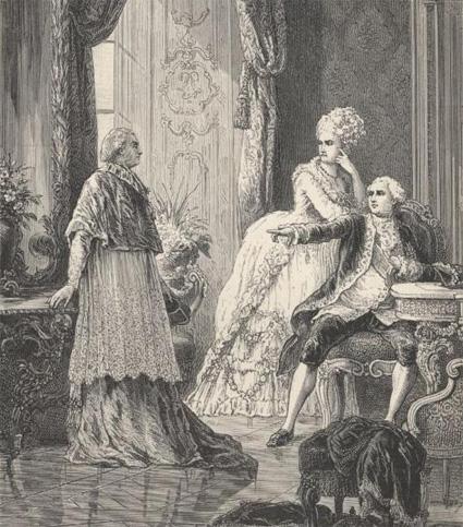 l'affaire du collier : Louis XVI et Marie-Antoinette accusent le Cardinal de Rohan