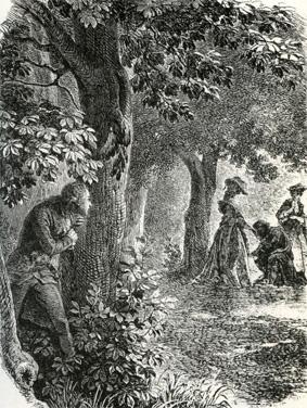 l'affaire du collier : la rencontre dans le Bosquet de Venus