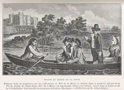 l'affaire du collier : l'evasion de Jeanne de la Motte