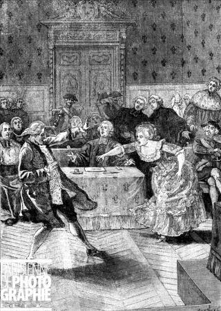 l'affaire du collier : Au proces, Jeanne de la Motte est hysterique