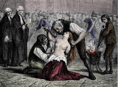 l'affaire du collier : Jeanne de la Motte marquee au fer rouge