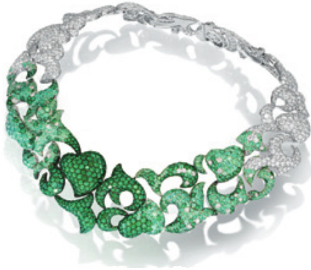 De Grisogono necklace emeraudes et diamants