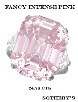 Fancy intense Pink diamond Busby Jewelry