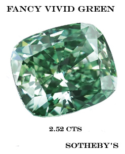 diamant fancy vivid green record