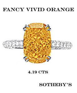diamant fancy vivid orange record