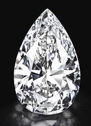 un diamant poire de 101.73 cts BusBy