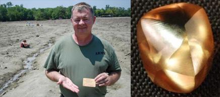 les diamants de l'Arkansas et le diamant Patriot busby