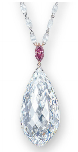 Briolette de 75.36 cts D IF BusBy Jewelry