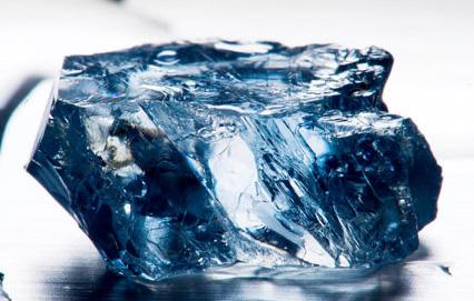 diamant brut de couleur bleue de 25.5 cts busby