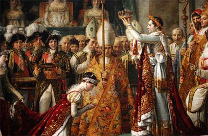 le sacre de Napoleon et de Josephine