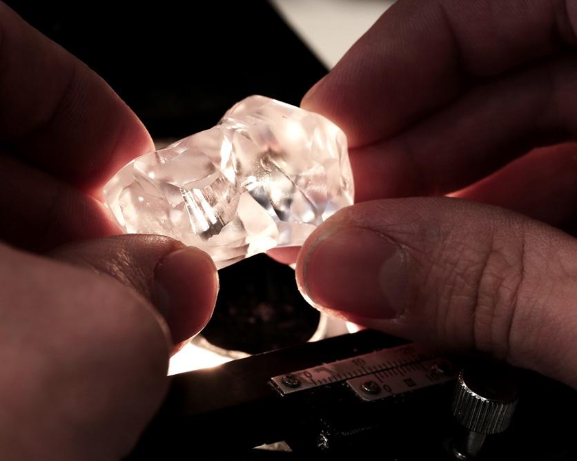 Gem diamonds diamant brut mine de letseng lesotho BusBy Jewelry