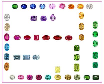 pierres précieuses pierres fines couleur saphir rubis améthyste