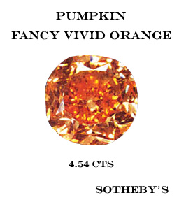 diamant fancy vivid orange the pumpkin record