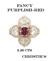 diamant fancy purplish red record
